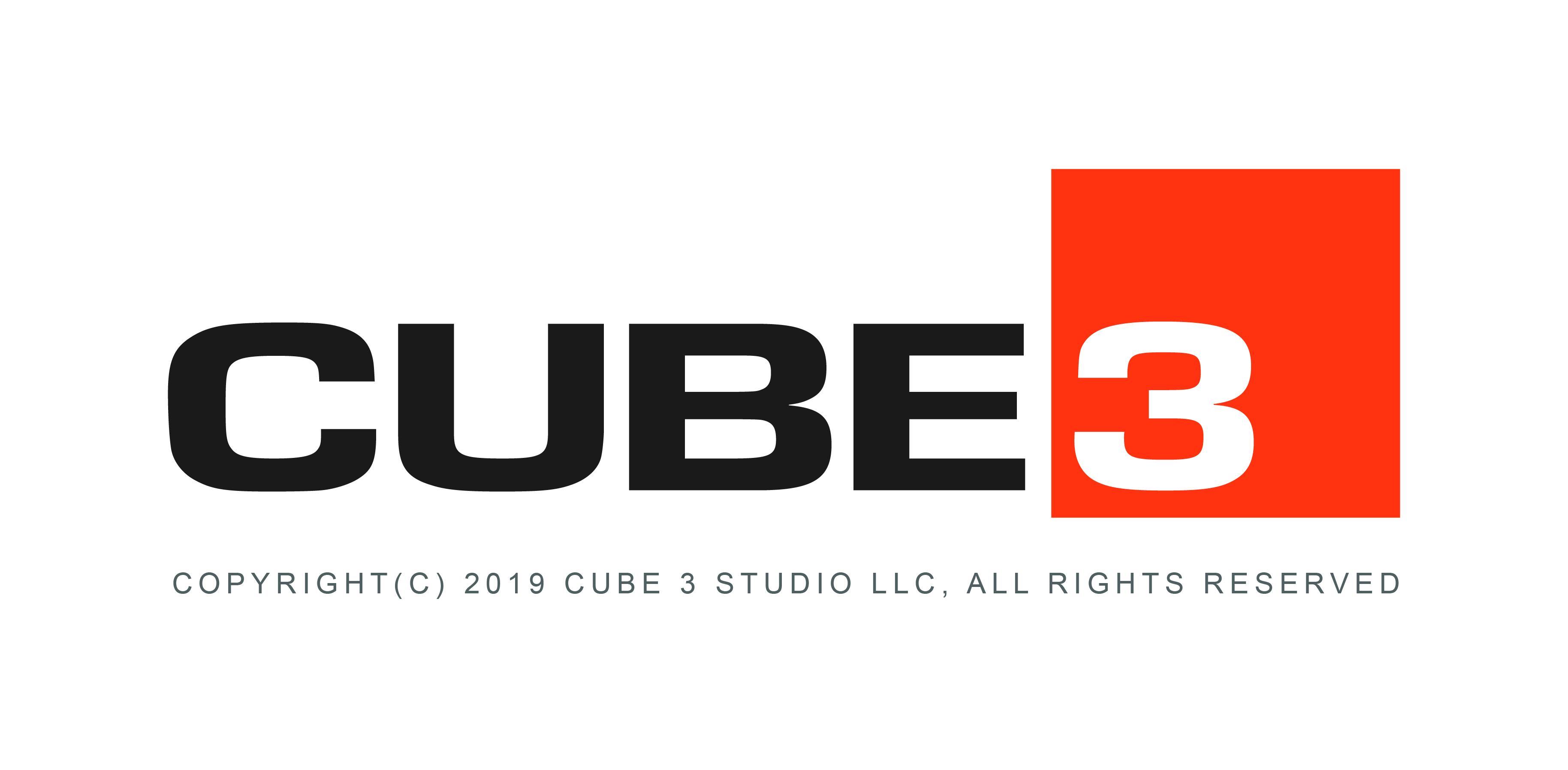 CUBE3 Full Logo Copyright 2019
