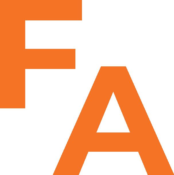 JUST FA orange on transparent