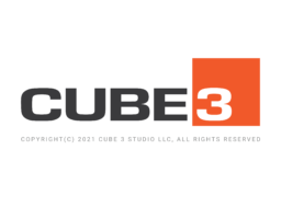 CUBE3 full logo with 2021 copyright