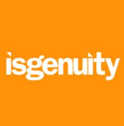 Isgenuity Logo white on orange