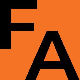 JUST FA white on orange