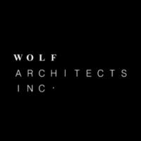 Wolf Architects logo black circle white text